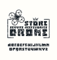 Square sanserif font and drone store emblem vector image vector image