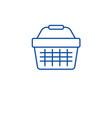 supermarket cart line icon concept supermarket vector image vector image