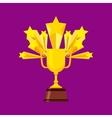 trophy award design vector image vector image
