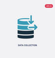 two color data collection icon from user vector image vector image