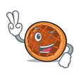 two finger baket pie character cartoon vector image