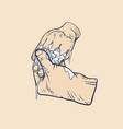 washing hands with soap vector image