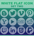 white flat icon set two image vector image
