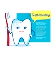 White shiny tooth character vector image