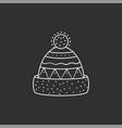 winter hat v vector image vector image