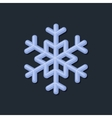 Blue Snowflake on Dark Background vector image