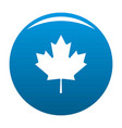 canada maple leaf icon blue vector image