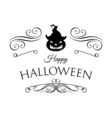 Smile Pumpkin Happy Halloween Filigree scroll and vector image