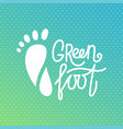 green foot health center logo orthopedic eco vector image