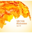 Abstract background of yellow and orange spots vector image