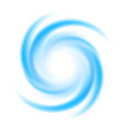 abstract blue swirl circle vector image