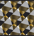 abstract luxury gold and black seamless pattern vector image vector image