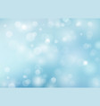 abstract spring summer bokeh light blue vector image vector image