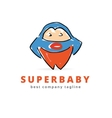 Abstract super baby hero monster logo icon concept vector image vector image