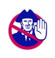 american patriot stop sign retro vector image vector image
