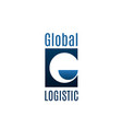 badge for logistic company vector image vector image