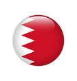 bahrain flag on button vector image vector image