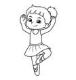 ballerina girl practicing ballet bw vector image vector image