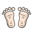 beauty baby footprint design icon vector image