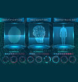 biometric identification personality scanning vector image vector image