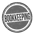 bookkeeping sign or stamp vector image
