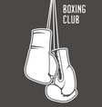 Boxing club poster with boxing gloves and banner vector image vector image
