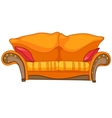 cartoon home furniture sofa vector image vector image