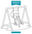 character coloring page vector image vector image