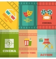 Cinema icons composition poster print vector image