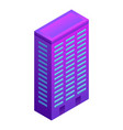 city smart building icon isometric style vector image vector image