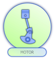 Commercial icons and symbols of car parts - Motor vector image vector image