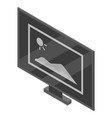 computer monitor icon isometric style vector image vector image