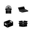 crates simple related icons vector image vector image