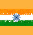 creative indian flag with with ethnic paisley vector image vector image