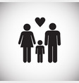 family on white background vector image