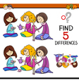 find the differences game vector image vector image