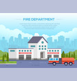 fire department - modern with vector image vector image