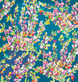 Floral seamless pattern with hand drawn blossom vector image