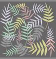 flowers pattern twigs leaves vector image