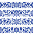 folk art seamless floral pattern vector image vector image