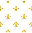 gold royal lily pattern flat vector image vector image