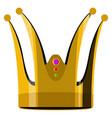 golden crown icon vector image vector image
