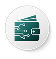 green cryptocurrency wallet icon isolated on white vector image vector image