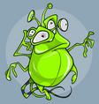 green fantastic cartoon creature vector image