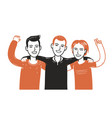 happy friends together people vector image