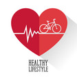 healthy lifestyle for healthy heart vector image vector image