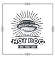 hot dog poster vector image vector image