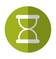 hourglass button thumbnail icon image vector image