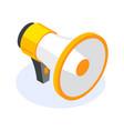 isometric flat megaphone or speacker icon tool vector image