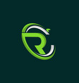 letter r recycle business logo design vector image vector image